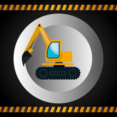 heavy construction: machinery vehicle construction heavy icon vector illustration design
