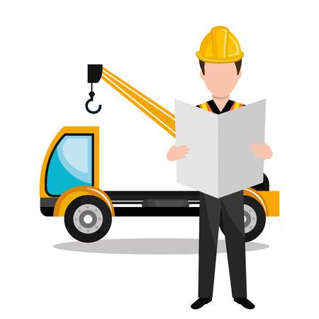 bouwer aannemersarbeider pictogram vectorillustratieontwerp Vector Illustratie