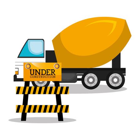 heavy construction: machinary vehicle construction heavy icon vector illustration design