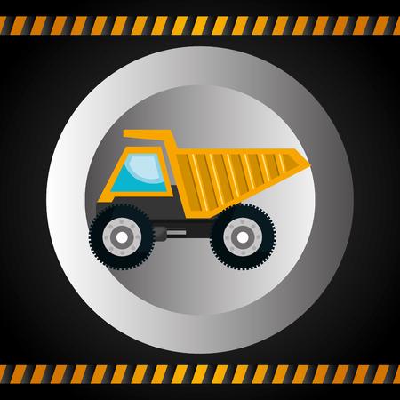 construction vehicle: machinery vehicle construction heavy icon vector illustration design