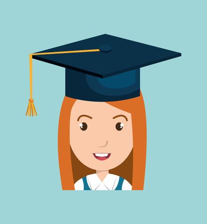 girl student female icon vector illustration design