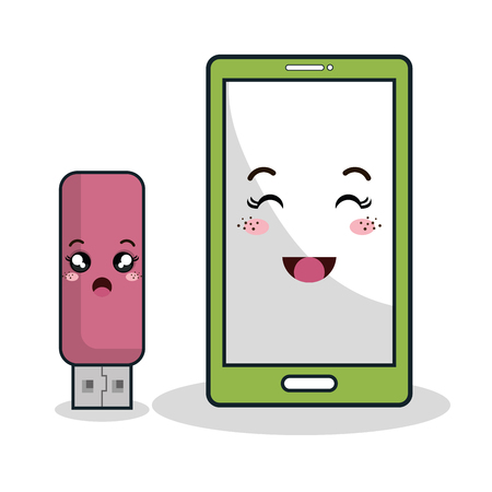 electronic devices: electronic devices characters icon vector illustration design