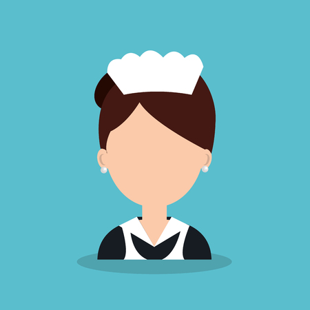 hotel worker: hotel worker housekeeper icon vector illustration design