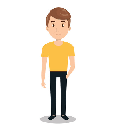 man male young person icon vector illustration design