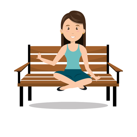 seated: woman icon design over white background, vector illustration design