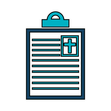 medical clipboard: order medical clipboard isolated icon vector illustration design