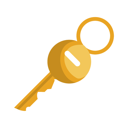 key hotel gold isolated icon vector illustration design