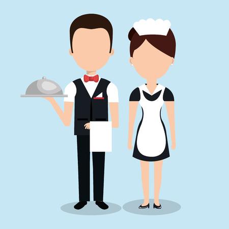 room service: room service hotel isolated icon vector illustration design Illustration