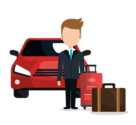 valet parking hotel service vector illustration design