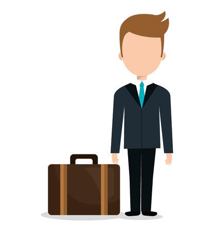 concierge: bellboy service hotel isolated icon vector illustration design Illustration