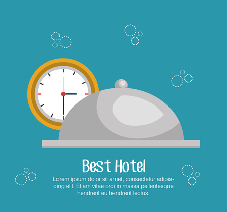 hotel bell: hotel bell isolated icon vector illustration design