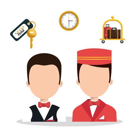 quiet room: best hotel set services icons vector illustration design Illustration