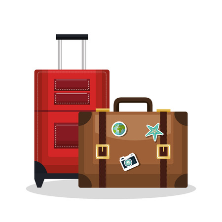 valise: suitcase bags isolated icon vector illustration design