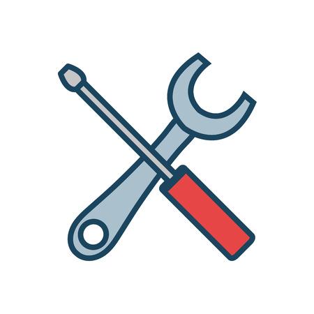 wrench and screwdriver vector illustration vector illustration design