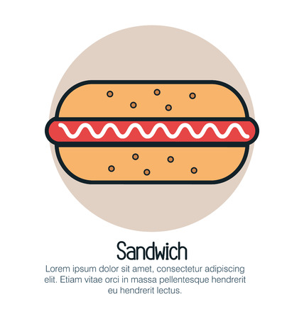 sandwish: sandwish fast food isolated icon vector illustration design Illustration