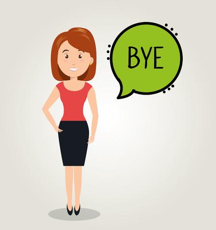 people talking speech communication vector illustration design Illustration