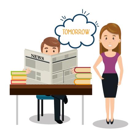chat room: people talking speech communication vector illustration design Illustration