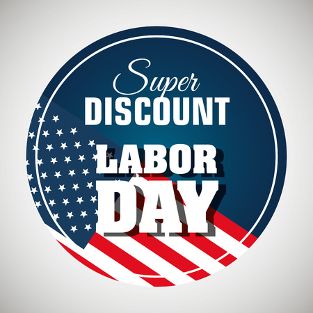 labor day sale big isolated icon vector illustration design Illustration