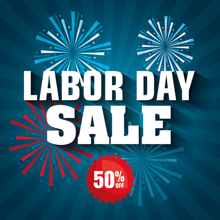labor day sale big isolated icon vector illustration design Illustration