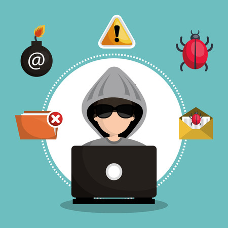 arroba: internet security information icon vector illustration design