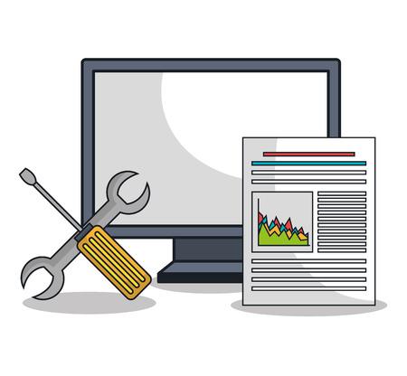 software design: computer settings technology icon vector illustration design