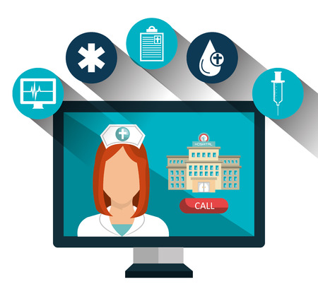 medical technology: health care medical technology isolated icon vector illustration design Illustration
