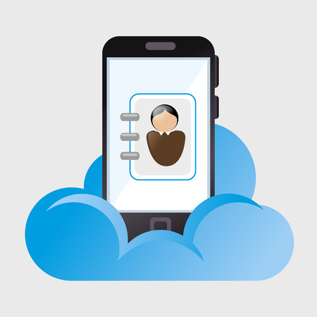 computer network diagram: cloud computing data icon vector illustration graphic Illustration