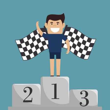 championship podium numbers  icon vector illustration design eps10