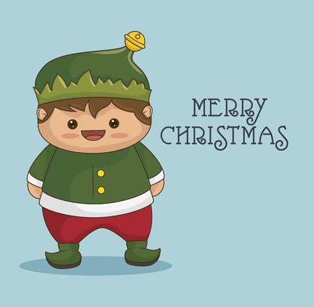 helper: elf character christmas  icon vector illustration design Illustration