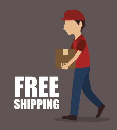 delivering: free shipping delivery icon vector illustration design