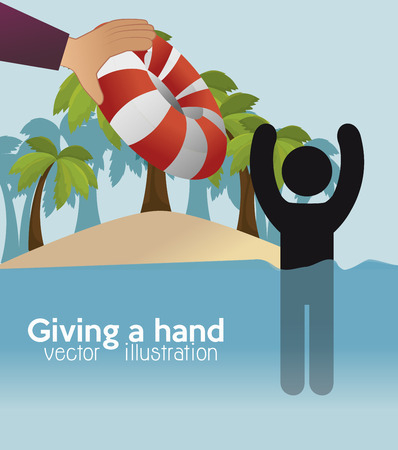 gift of hope: people who help  icon vector illustration design