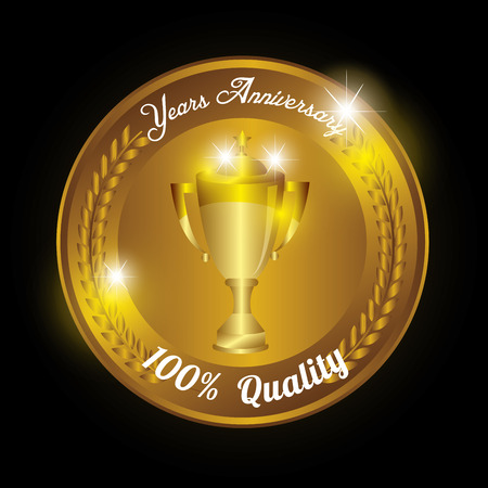 seal quality years anniversary vector illustration design