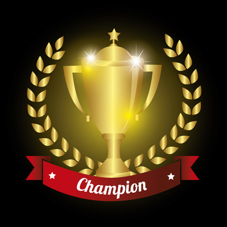 trophy championship winner  vector illustration design eps10