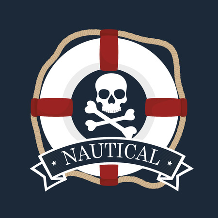 nautical emblem float  icon vector illustration design