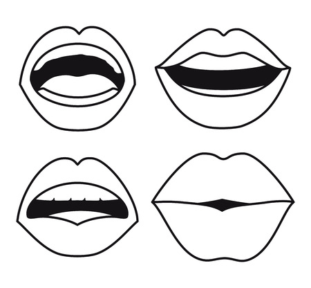 set lips female d icons vector illustration design Vectores