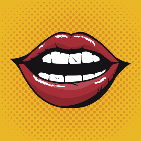 입술 여성 아름 다운 d 아이콘 벡터 일러스트 레이 션 디자인
