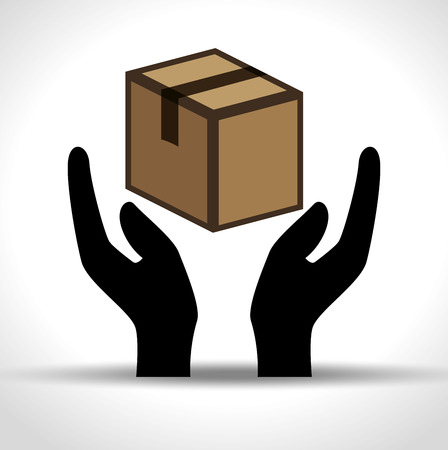 packing: boxes carton packing delivery service vector illustration design Illustration
