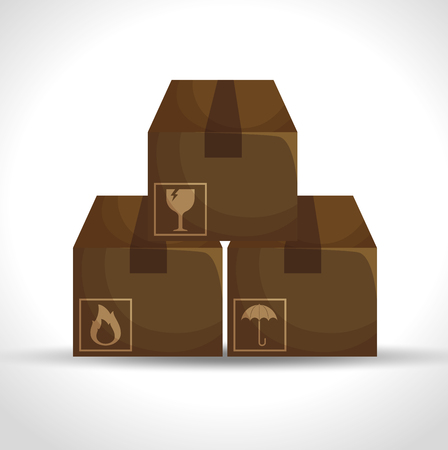 packing boxes: boxes carton packing delivery service vector illustration design Illustration