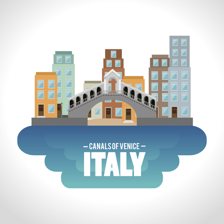 venice italy culture isolated vector illustration design Illustration
