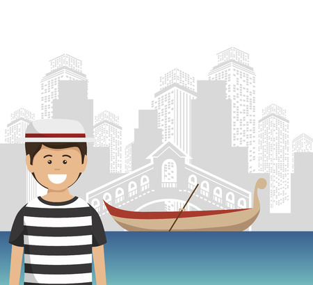 italy culture: venice italy culture isolated vector illustration design Illustration