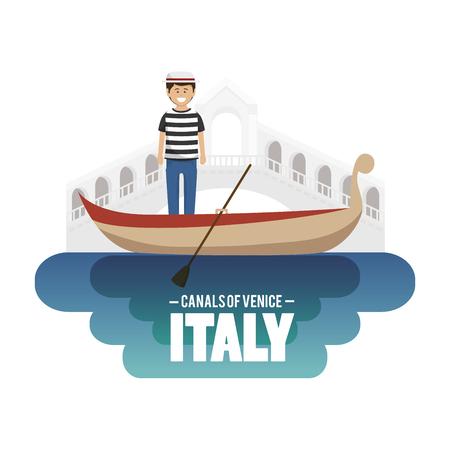 venice italy: venice italy culture isolated vector illustration design Illustration