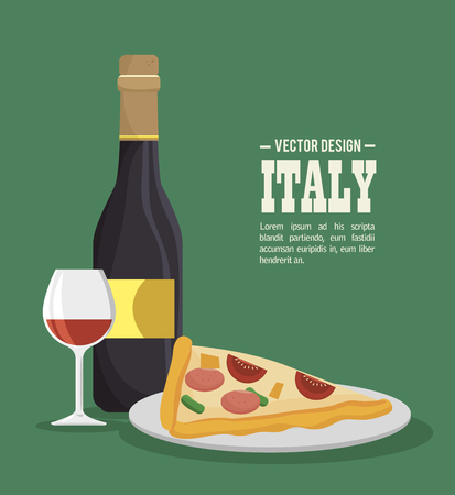 italian food tradition isolated icon vector illustration design