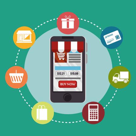 web shopping: web shopping ecommerce online icon vector illustration design Illustration