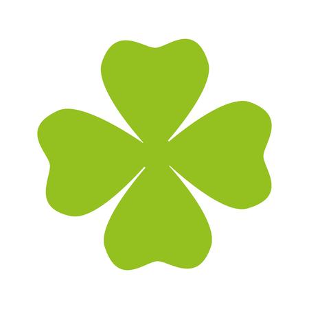 lucky clover: clover leaf natural green plant ecology lucky vector illustration Illustration