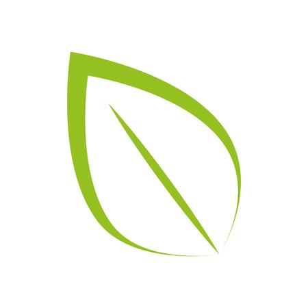 enviroment: leaf natural green plant ecology sheet foliage enviroment vector illustration