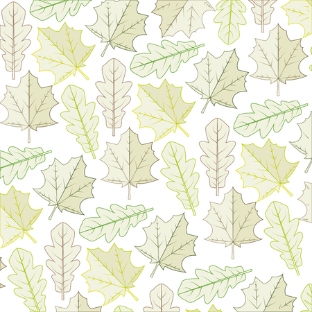 botan: autumn dry leaves background decoration natural ecology vector illustration