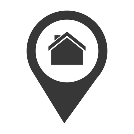 real state: pin location house place real state business vector illustration