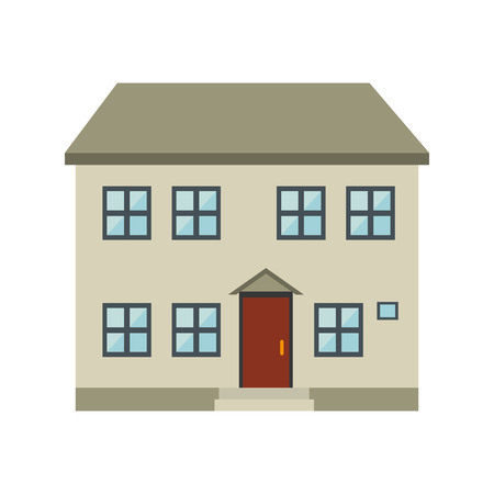 luxury home exterior: house modern building real estate property exterior view vector illustration