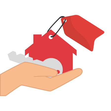 real state: real state business house property key rent agent vector illustration Illustration