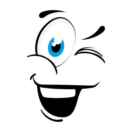 expressive: face cartoon happy character emotion expressive emoticon  vector illustration